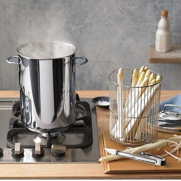Garnek do gotowania szparagów stalowy WMF