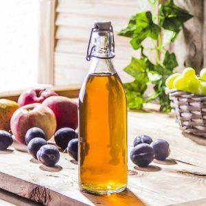 Butelka szklana na sok z sokownika z korkiem Tescoma Della Casa