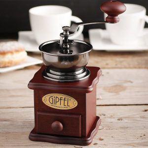 Ręczny młynek do kawy drewniany Gipfel