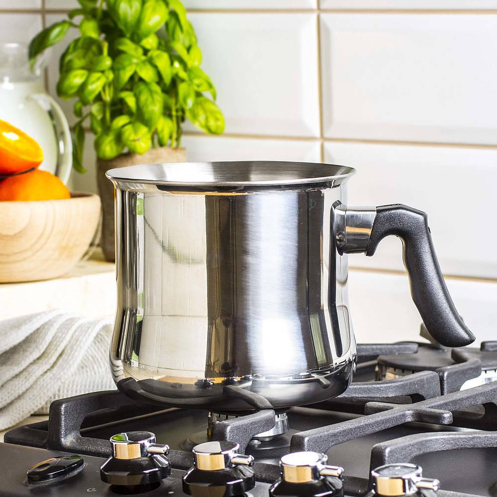 Garnek do gotowania mleka z gwizdkiem i płaszczem wodnym Milk