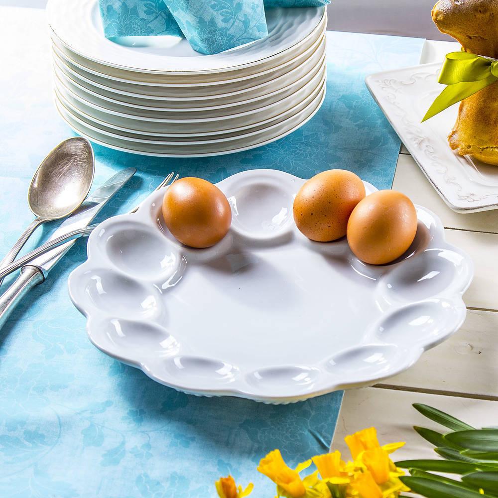 Talerz ceramiczny na jajka
