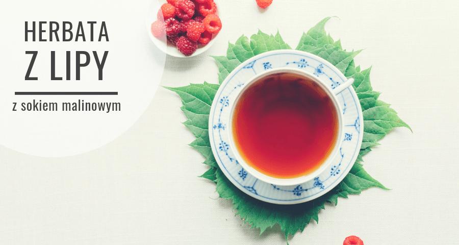 Herbata z lipy z sokiem malinowym
