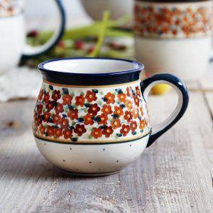 Kubek czeski ceramiczny Bolesławiec