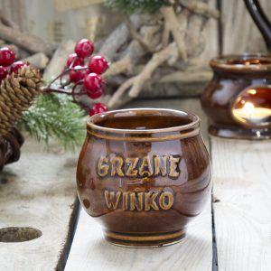 Kubek kamionkowy do grzanego wina Krystynka