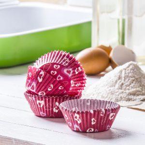 Papierowe papilotki do muffinek w serca Silikomart