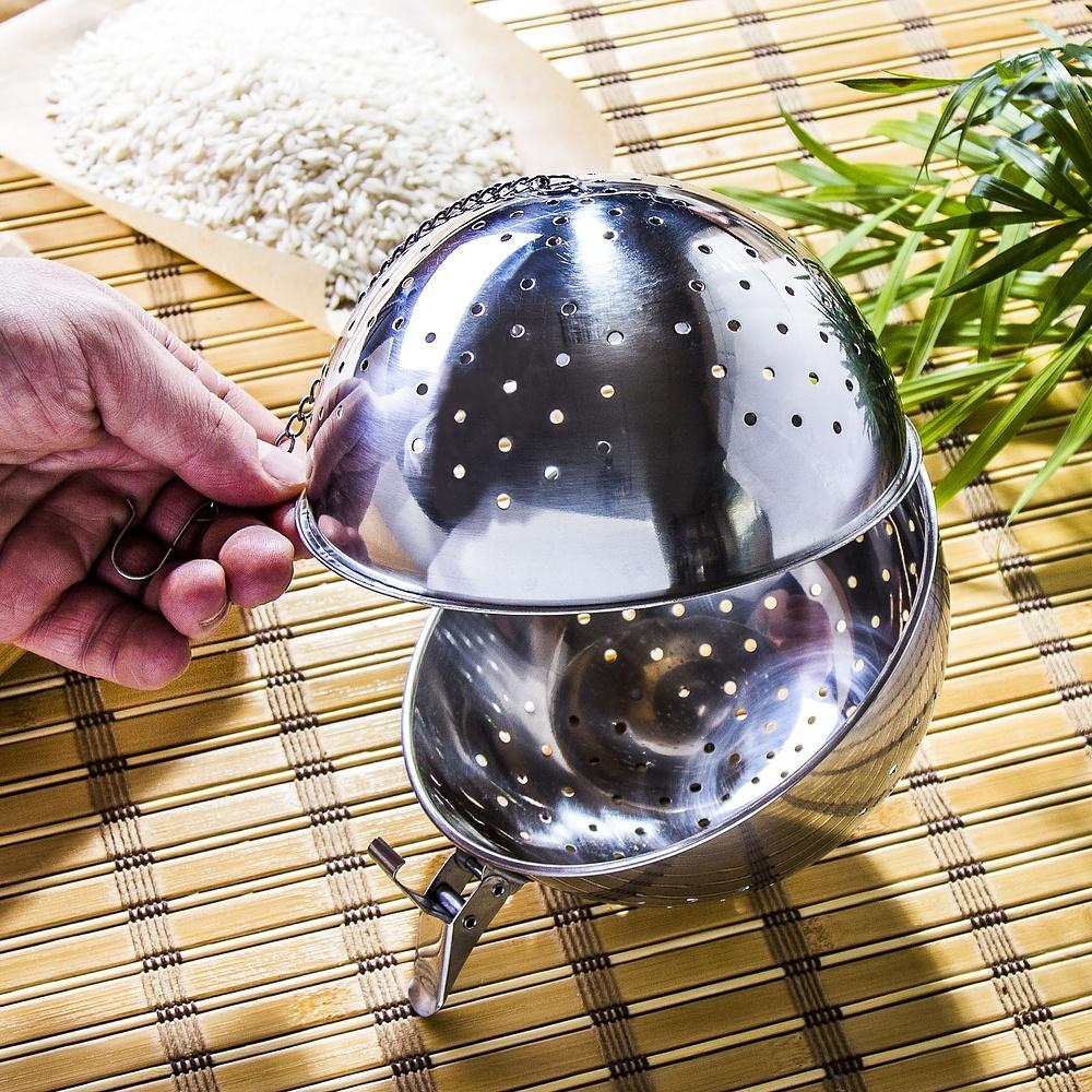 Stalowa kula do gotowania ryżu