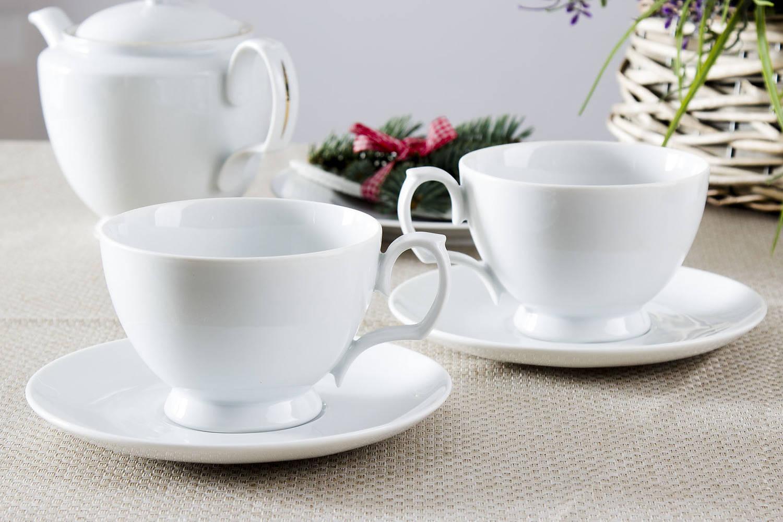 Komplet białych filiżanek do kawy Chodzież