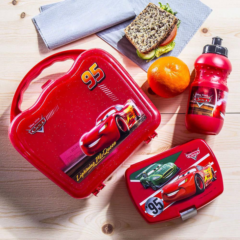 Śniadaniówka i bidon dla dzieci Auta