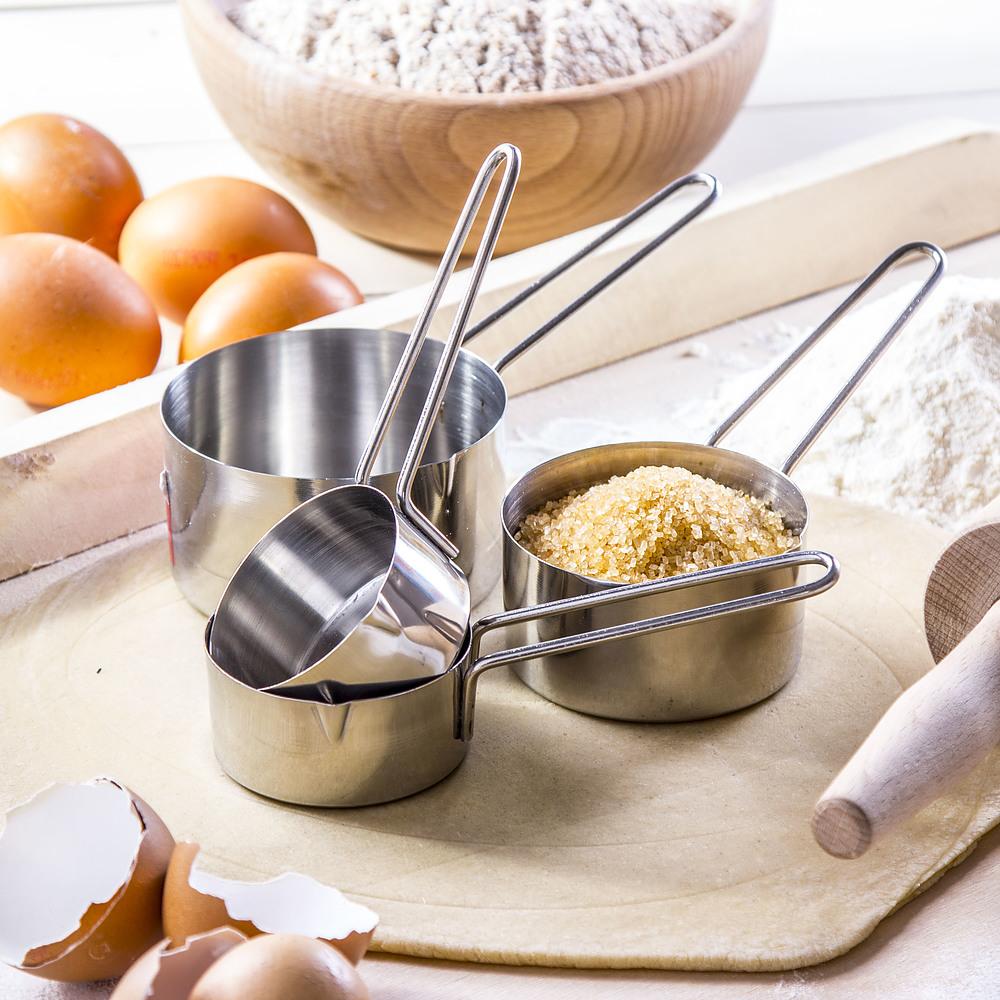 Stalowe miarki kuchenne