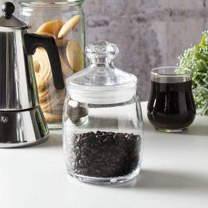 Szklany słoik na kawę