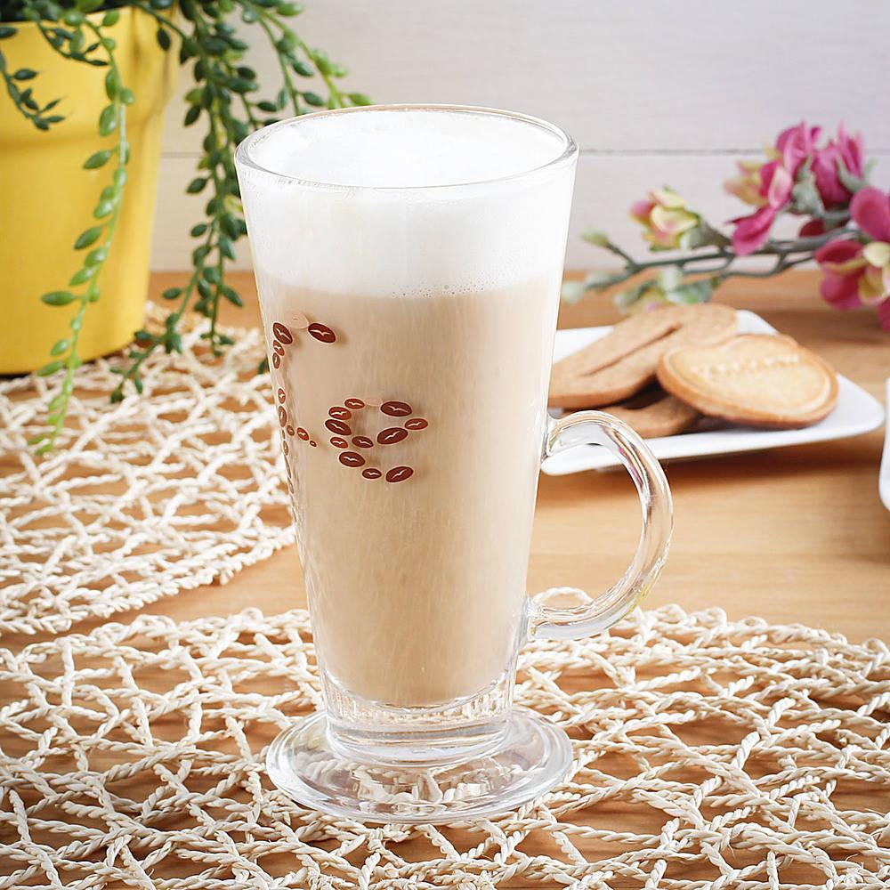 Wysoka szklanka do kawy latte