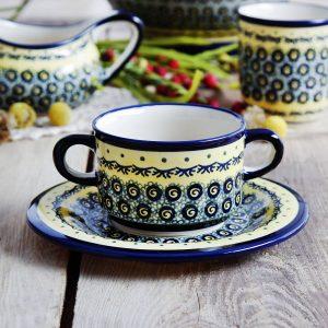 Ceramiczna bulionówka Bolesławiec