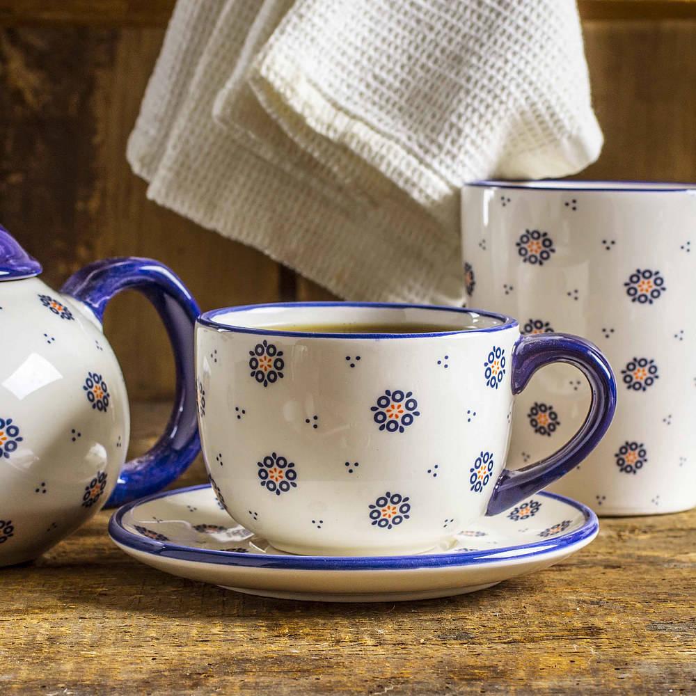 Ceramiczna filiżanka do kawy i herbaty Folklor