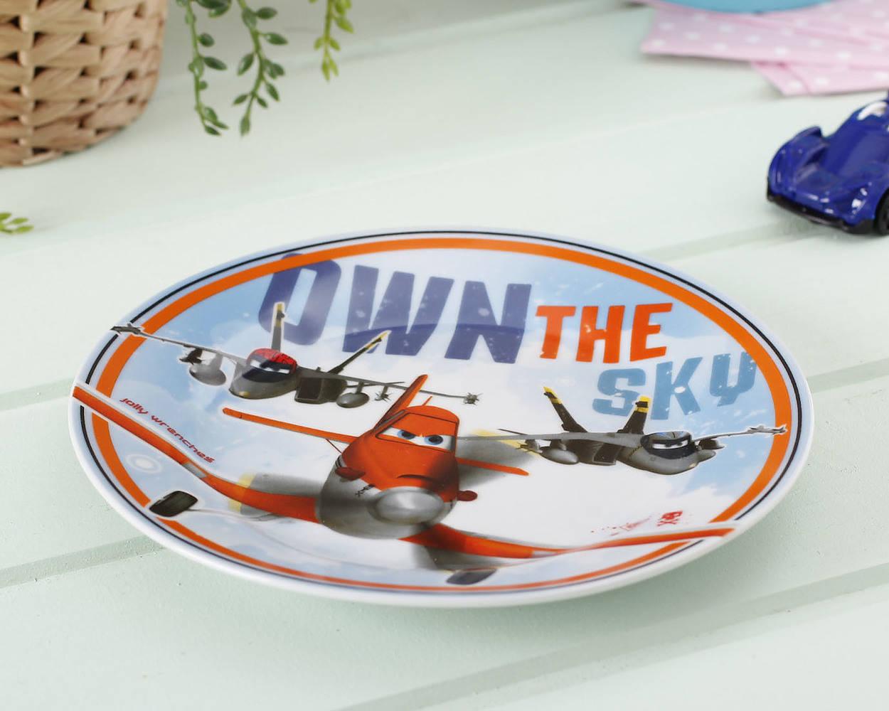 Ceramiczny talerz dla dzieci Samoloty Dusty