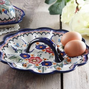 Ceramiczny talerz na jajka Ceramika Bolesławiec