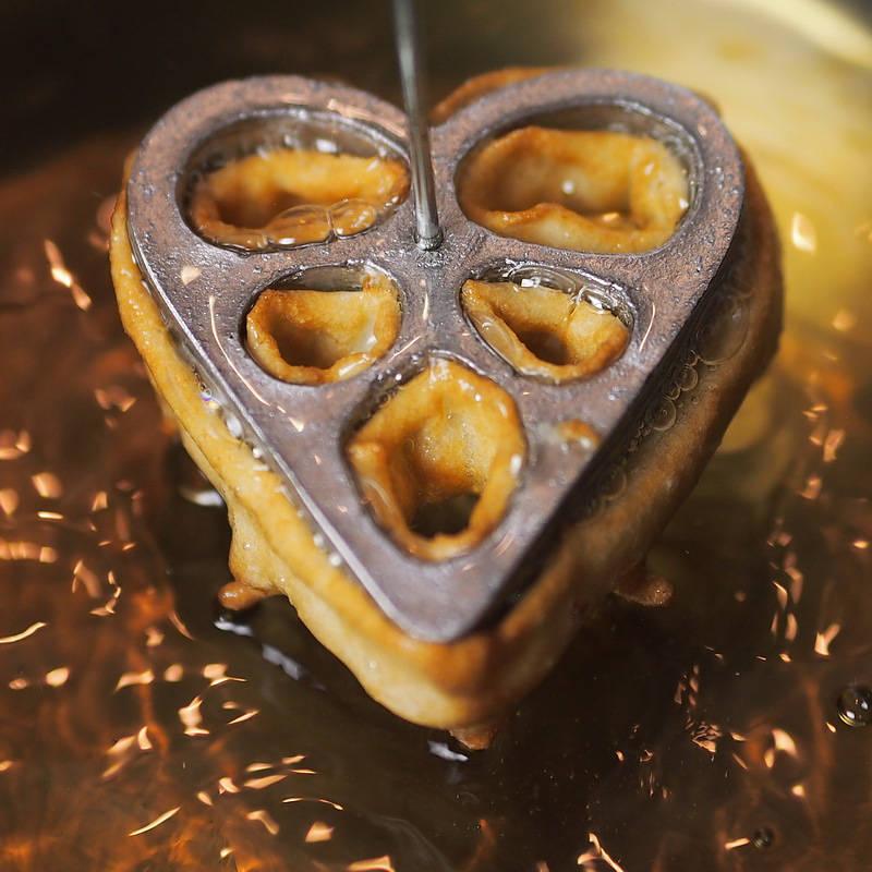Foremka do smażenia rozetek serce