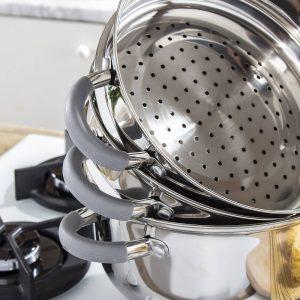 Garnek do gotowania na parze Alvaro Szary