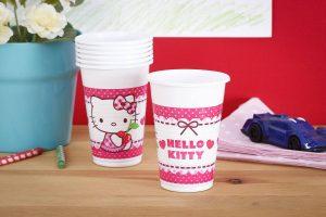 Plastikowe kubki dla dzieci Hello Kitty