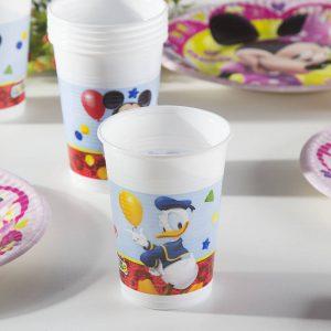 Jednorazowe kubki dla dzieci Myszka Miki i Kaczor Donald