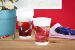 Kubki jednorazowe dla dzieci Spider Man