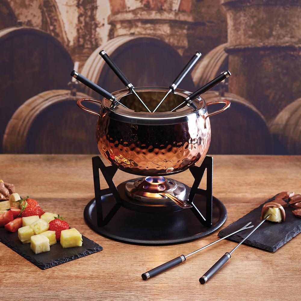 Miedziany zestaw do fondue Kitchen Craft