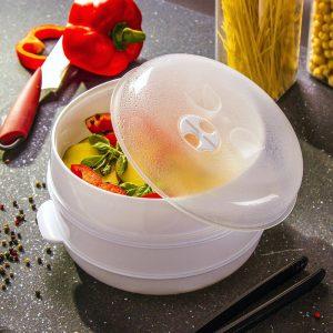 Naczynie do gotowania na parze w mikrofali