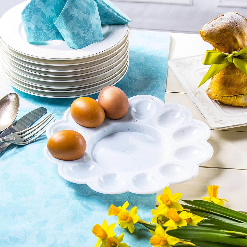 Plastikowy talerz do jajek faszerowanych