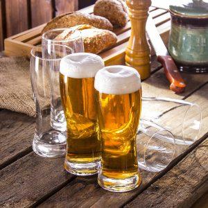 Szklane pokale do piwa Praga