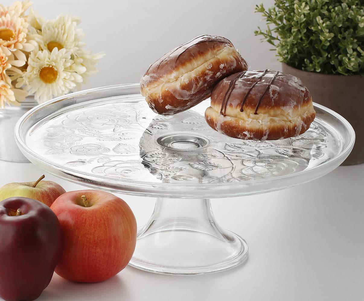 Szklana patera na ciasto edwanex