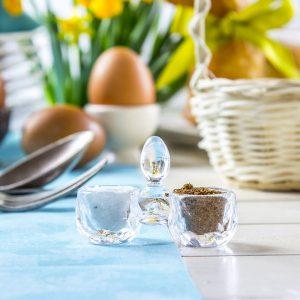 Szklany przyprawnik do soli i pieprzu Kryształ