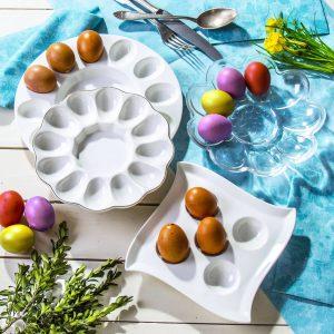 Talerze do jajek wielkanocne