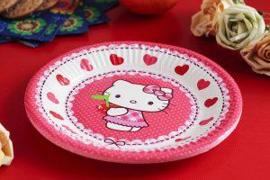 Talerze jednorazowe dla dzieci Hello Kitty
