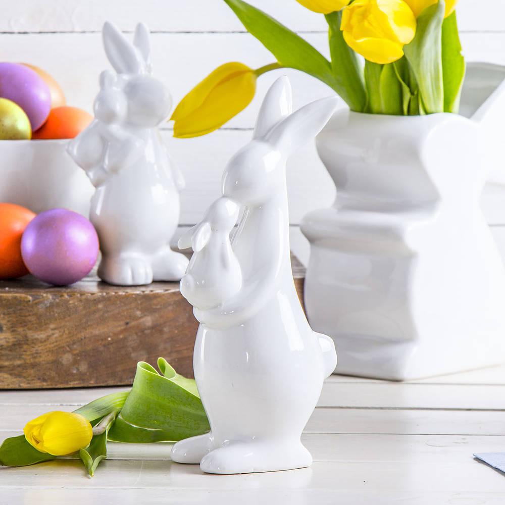 Figurka ceramiczna zając wielkanocny