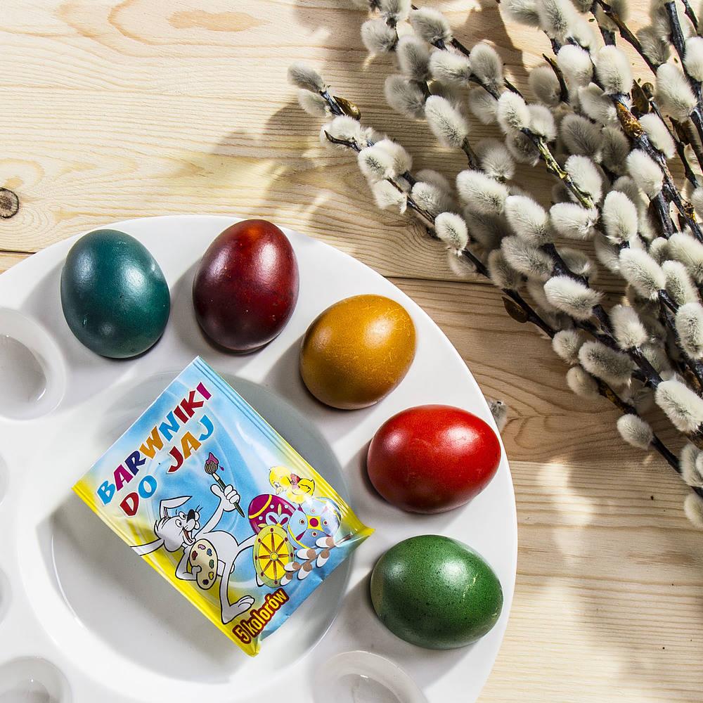 Barwniki do jajek kolorowe