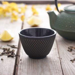 Czarka do herbaty żeliwna gold