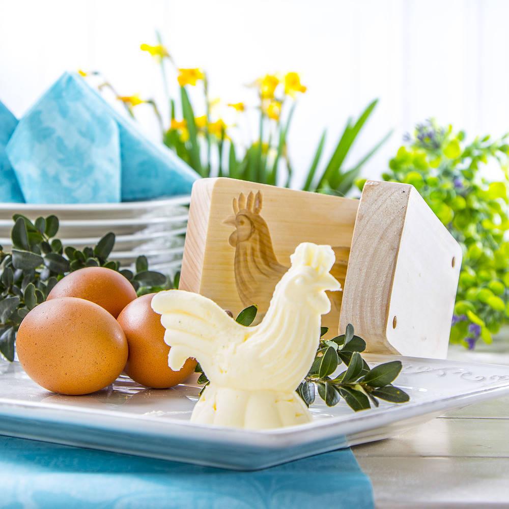 Forma do masła kogut