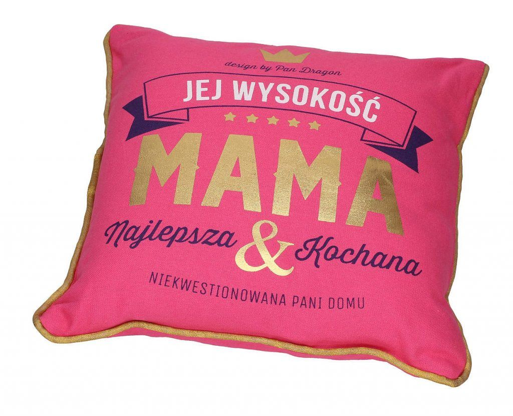 Ozdobna poduszka z nadrukiem dla mamy