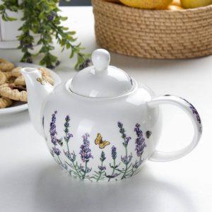 Porcelanowy dzbanek do parzenia herbaty Carmani Lavender