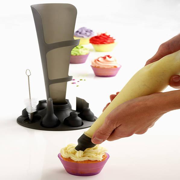 Rękaw cukierniczy silikonowy z końcówkami