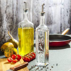 Szklana butelka na oliwę i ocet Pasabahce
