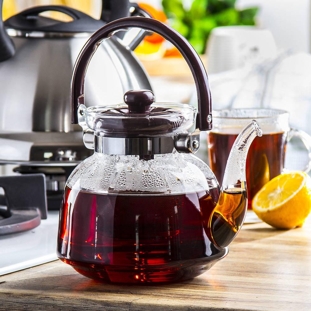 Szklany dzbanek do parzenia herbaty z sitkiem Windsor