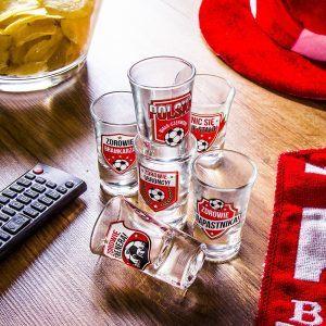 Kieliszki do wódki szklane Kibic