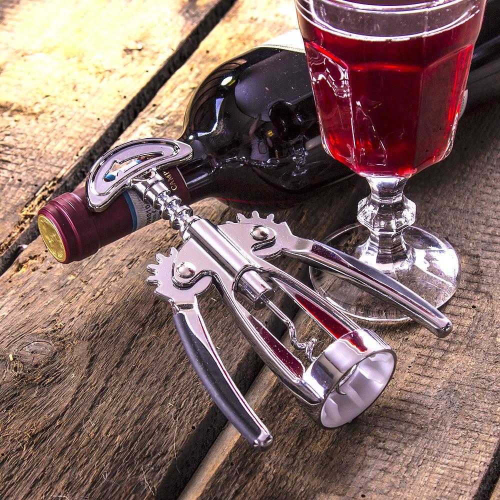Korkociąg otwieracz do wina metalowy