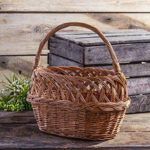 Koszyk wiklinowy na grzyby