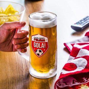 Kufel do piwa szklany na mundial