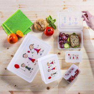 Pojemniki śniadaniowe dla dzieci Domotti