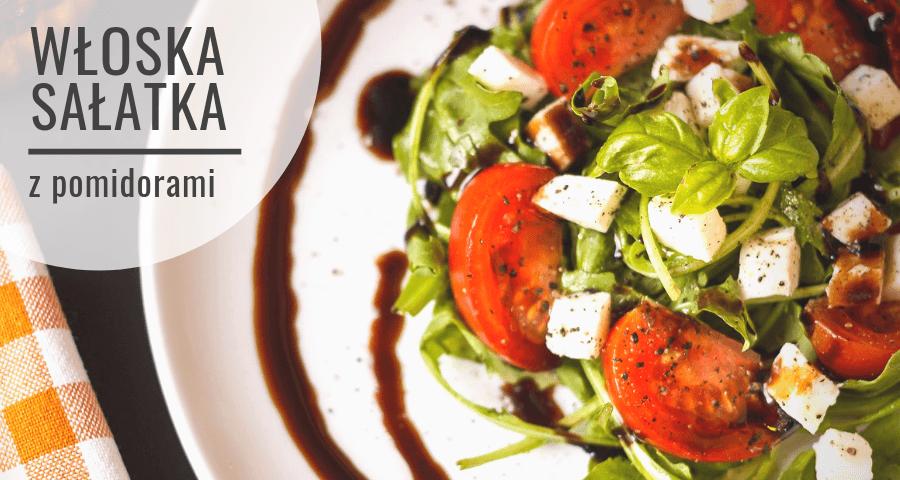 Włoska sałatka ze świeżych pomidorów do grilla