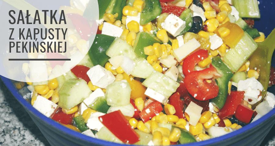Kolorowa sałatka do grilla z kukurydzą - przepis
