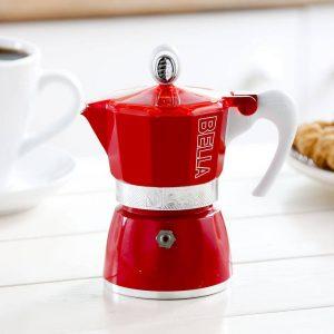 Czerwona kawiarka ciśnieniowa Gat