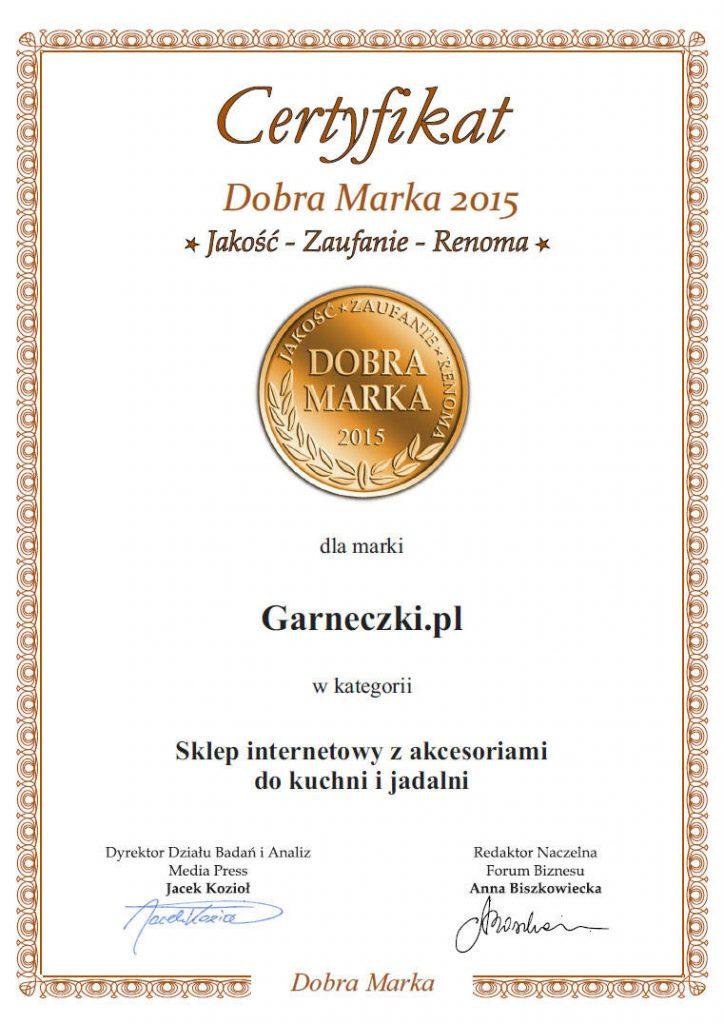 Dobra marka 2015 - Garneczki